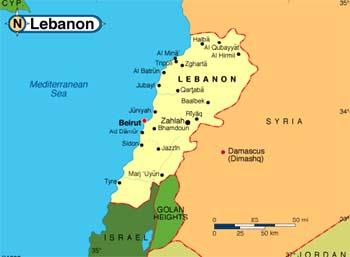 liban mapa LIBAN   przewodnik, ciekawostki, kultura, wizy, porady  liban mapa