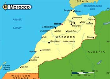 maroko mapa MAROKO   przewodnik, ciekawostki, kultura, wizy, porady  maroko mapa