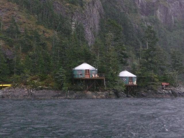 Zdjęcia: Kenai Fjords Nat'l. Park, domki rybackie, ALASKA