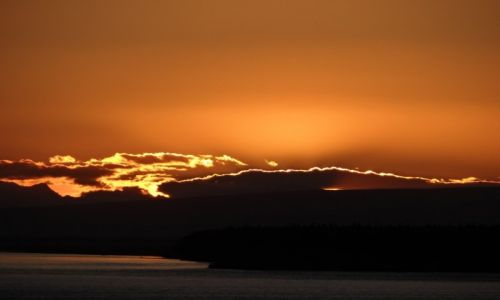 Zdjecie ALASKA / Anchorage / nad Zatoką Cooka / odchodzący dzień