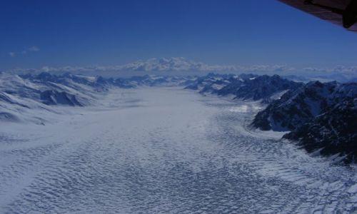 Zdjecie ALASKA / w drodze Base Campu / samolot / lodowiec kahilthna