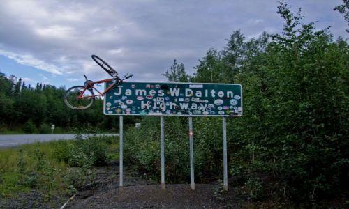 ALASKA / - / Alaska / Dalton Highway /  poczatek Dalton Highway