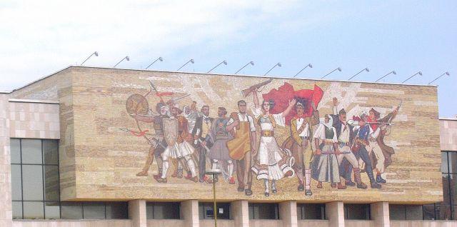 Zdjęcia: Tirana, Albania, Mozaika, ALBANIA