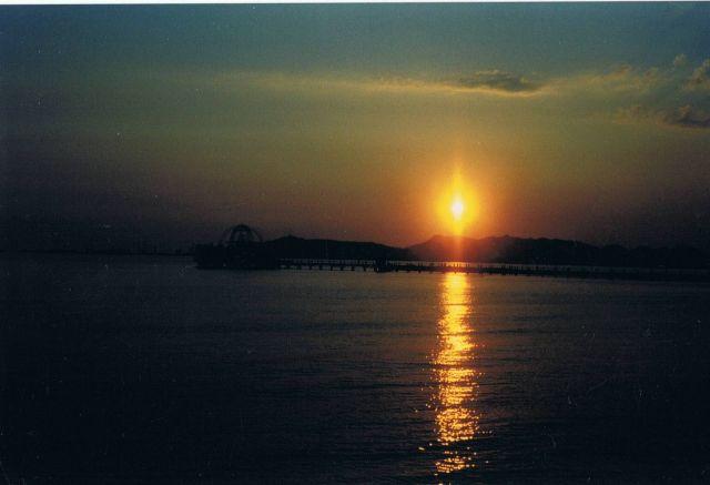 Zdjęcia: Durres, zachód słońca nad Adriatykiem, ALBANIA