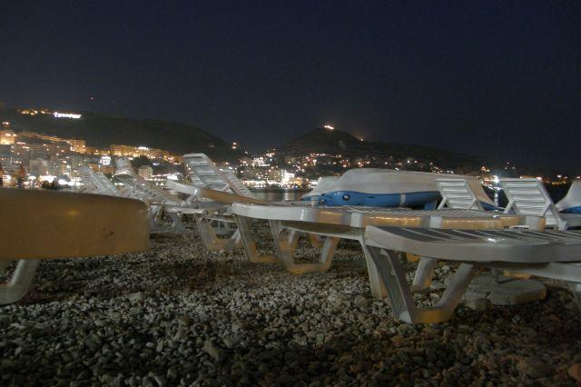 Zdjęcia: riwiera albańska, Bałkany, Saranda-plaża miejska nocą, ALBANIA