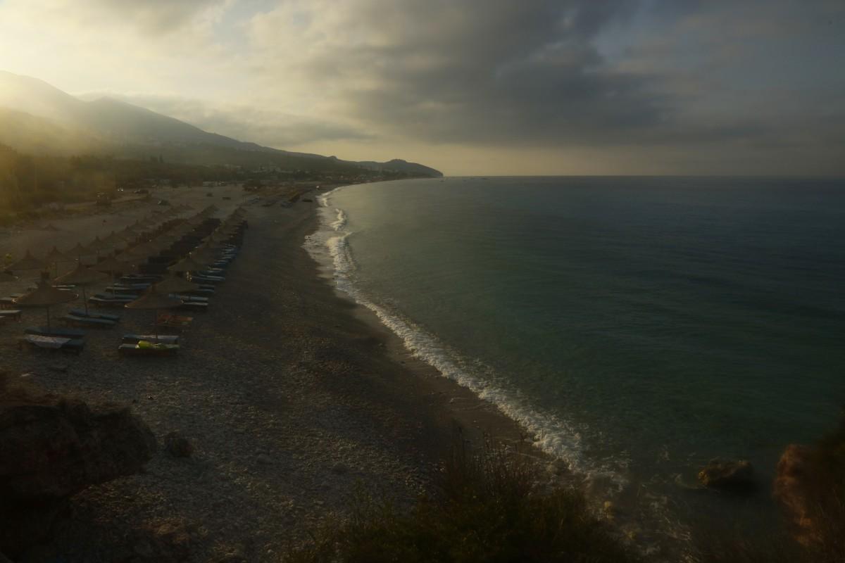 Zdjęcia: Himare, płd. Albanii, Zanim wstanie dzień..., ALBANIA