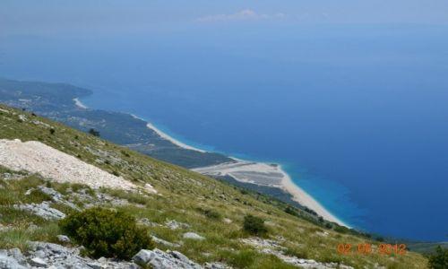 Zdjecie ALBANIA / wybrzeże / Llogara / albańskie wybrzeże z przełęczy
