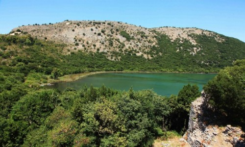 Zdjecie ALBANIA / Saranda / Butrint - twierdza z XIV w. / Laguna