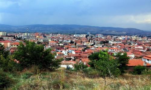 Zdjecie ALBANIA / Południowo-wschodnia / Korcza / Miejskie dachy