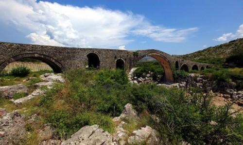 ALBANIA /  Szkodra / Rzeka Kir  / Stary most