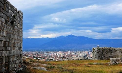 ALBANIA / północno-zach.Albania / Ruiny Rozafata / Widok na Szkodrę i Góry Przeklęte