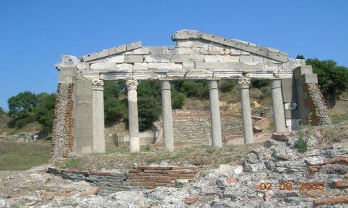 ALBANIA / Albania / Apollonia / fronton budynku Agonothetów