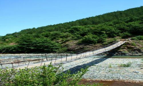 ALBANIA / - / Góry Albanii / Most linowy