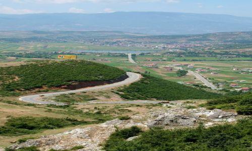 ALBANIA / - / Góry Albanii / Widok na drogę