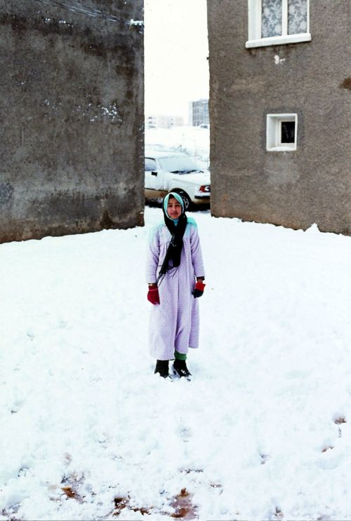 Zdj�cia: tlemcen, algieria zachodnia, arabka na sniegu, ALGIERIA