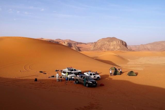 Zdjęcia: Tin Merzouga, Sahara, Zapowiada się kolejny piękny dzień, ALGIERIA