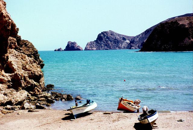 Zdjęcia: przy granicy z Marokiem, Zachód, Marsa Bem Mhidi- łódki, ALGIERIA