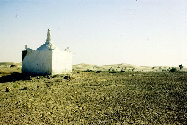 Zdjęcia: pod Touggurtem, południe, marabut pustelnik, ALGIERIA