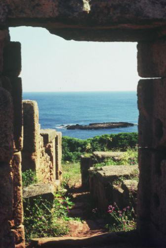 Zdj�cia: tipaza, wsch�d, Tipaza- widok na morze, ALGIERIA