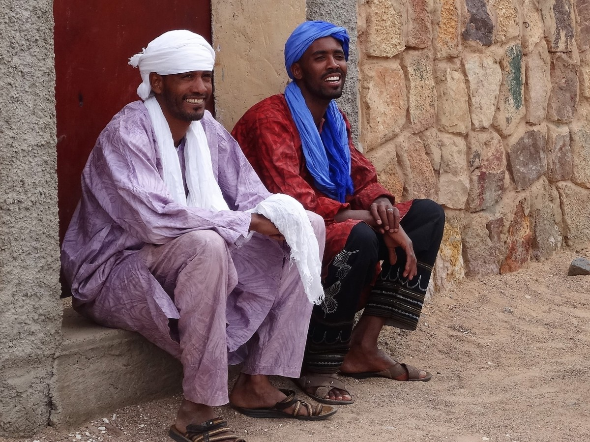 Zdjęcia: W oazie, Sahara, Tuarescy przystojniacy z naszej ekipy, ALGIERIA