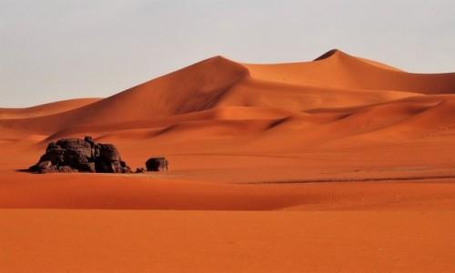 Zdjecie ALGIERIA / Sahara / Tadrart / 9  dni w  siódmym niebie - o zachodzie słońca