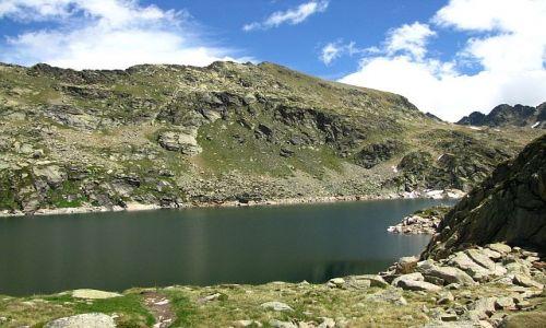 Zdjęcie ANDORA / Pireneje / przełęcz de Juclar / staw de Juclar