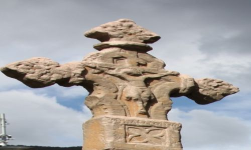 Zdjecie ANDORA / Pireneje / Centrum miasta / Kamienny krzyż