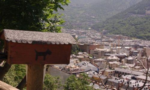 ANDORA / brak / miasto Andora de vella / panorama Andora de Vella