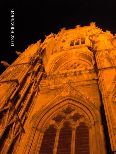 Zdjęcia: YORK, Yorkshire, KATEDRA W YORKU -The Minster -nocą, ANGLIA