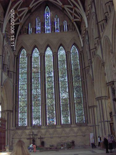 Zdjęcia: YORK, Yorkshire, KATEDRA W YORKU -The Minster -witraż, ANGLIA