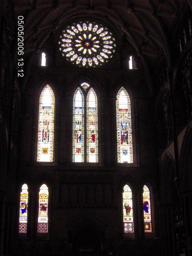 Zdjęcia: YORK, Yorkshire, KATEDRA W YORKU -The Minster -witraże, ANGLIA