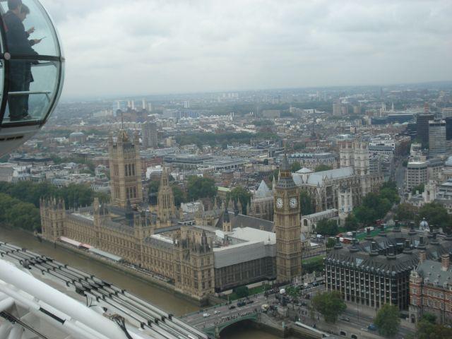 Zdjęcia: LONDYN , WIDOK Z LONDON EYE NA WESTMINSTER, ANGLIA