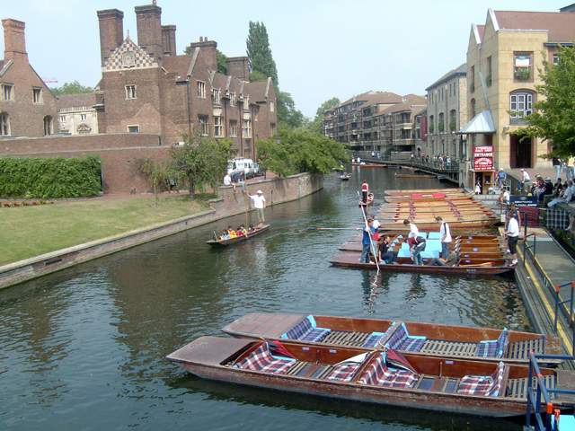 Zdjęcia: Cambridge, Magdalene Street, Cambridge - Przystań Gondolowa, ANGLIA