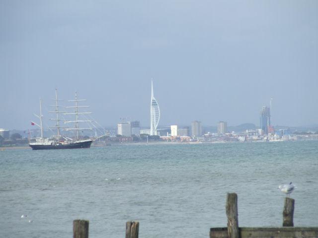 Zdjęcia: poludniowa anglia, Isle Of White, Portmouth w tle2, ANGLIA
