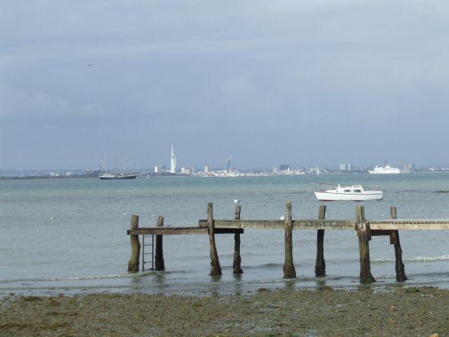 Zdjęcia: poludniowa anglia, Isle Of White, Portmouth w tle3, ANGLIA