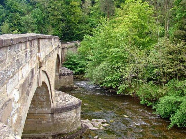 Zdjęcia: droga A686, Country Durham, mostek na rzece West Allen, ANGLIA