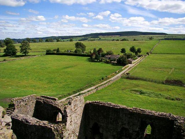 Zdj�cia: Middleham, North Yorkshire, widok z wiezy zamkowej , ANGLIA
