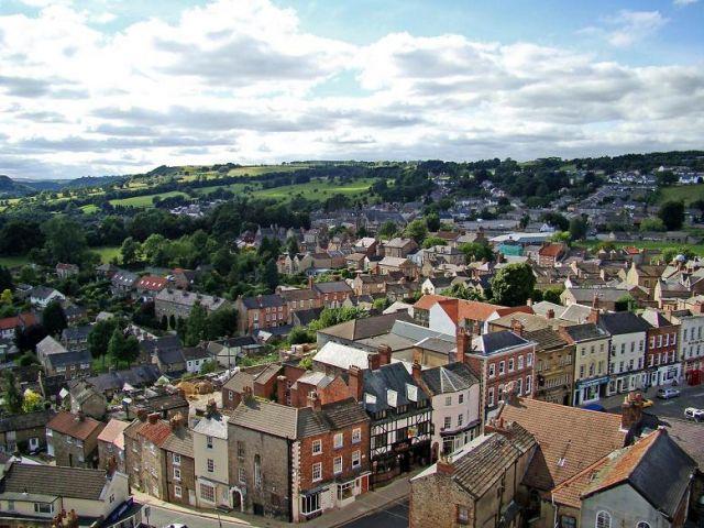 Zdjęcia: Richmond , North Yorkshire, widok na miasteczko Richmond  , ANGLIA