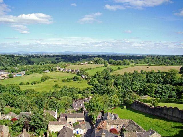 Zdjęcia: Richmond , North Yorkshire, widok z wiezy zamkowej  - Richmond Castle, ANGLIA