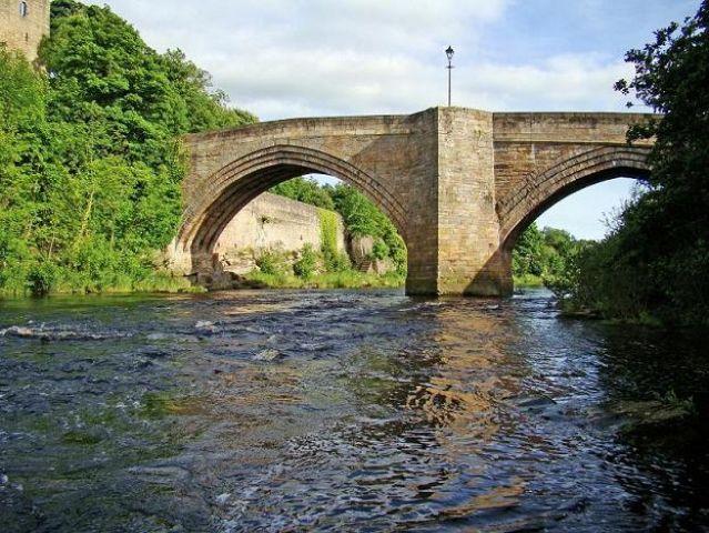 Zdjęcia: Bernard Castle, North Yorkshire, most na rzece Tees (obok zamku), ANGLIA