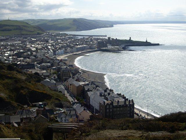 Zdjęcia: Aberystwyth, widok na miasto, ANGLIA