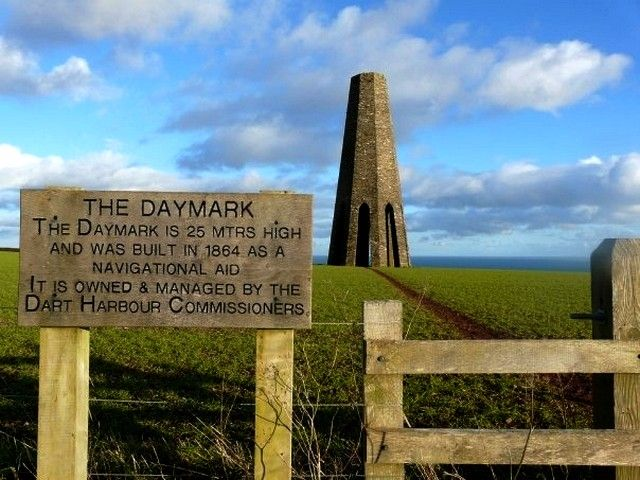 Zdjęcia: niedaleko Kingswear, Devon, The Daymark tower, ANGLIA