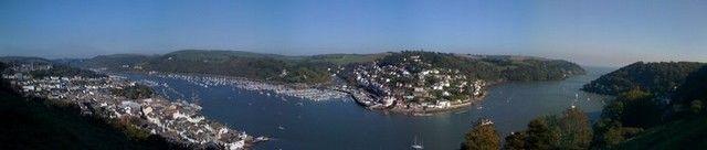 Zdjęcia: Dartmouth, Devon, Panorama Dartmoust/Kingswear, ANGLIA