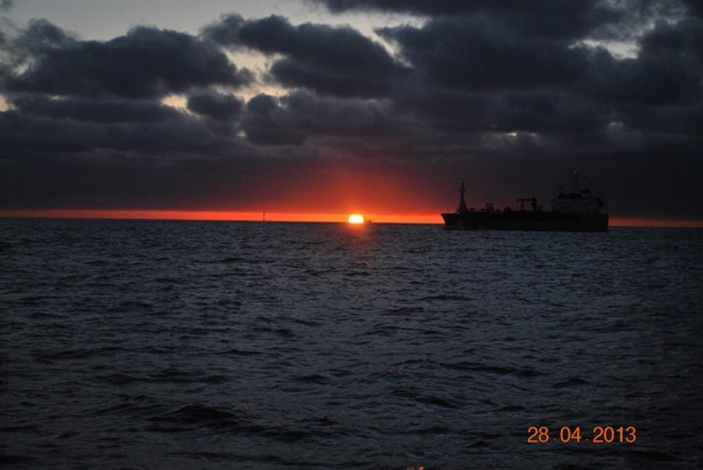 Zdj�cia: Morze P�nocne, mi�dzy Angli� a Holandi�, zach�d s�o�ca, ANGLIA