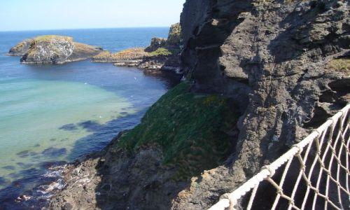Zdjecie ANGLIA / Irlandia Pn. / Hrabstwo Antrim / Widok z mostu linowego :)