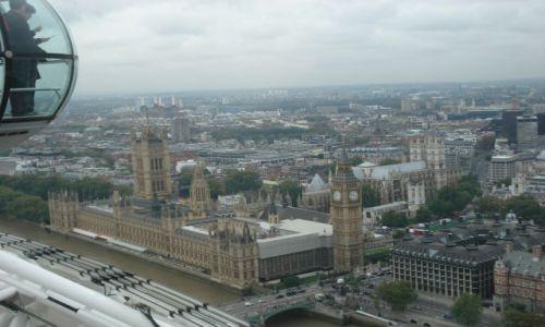 Zdjecie ANGLIA / - / LONDYN  / WIDOK Z LONDON EYE NA WESTMINSTER
