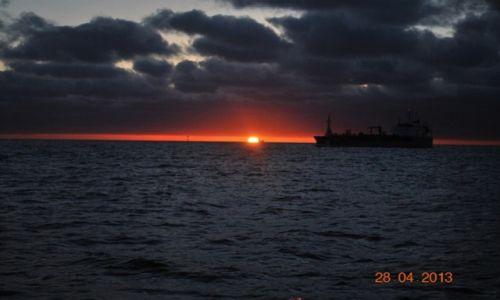 Zdjęcie ANGLIA / między Anglią a Holandią / Morze Północne / zachód słońca