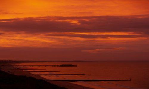 Zdjecie ANGLIA / Dorset / Bournemouth / Wschód słońca