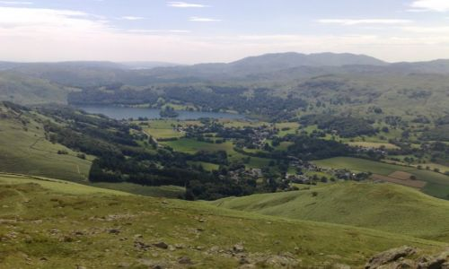 Zdjęcie ANGLIA / Lake District / Horseshoe / Lato w W-mere