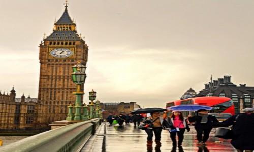 Zdjecie ANGLIA / - / Londyn / W deszczu...